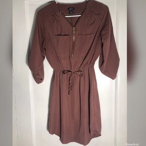 Rue21 Mauve Zip-up Dress